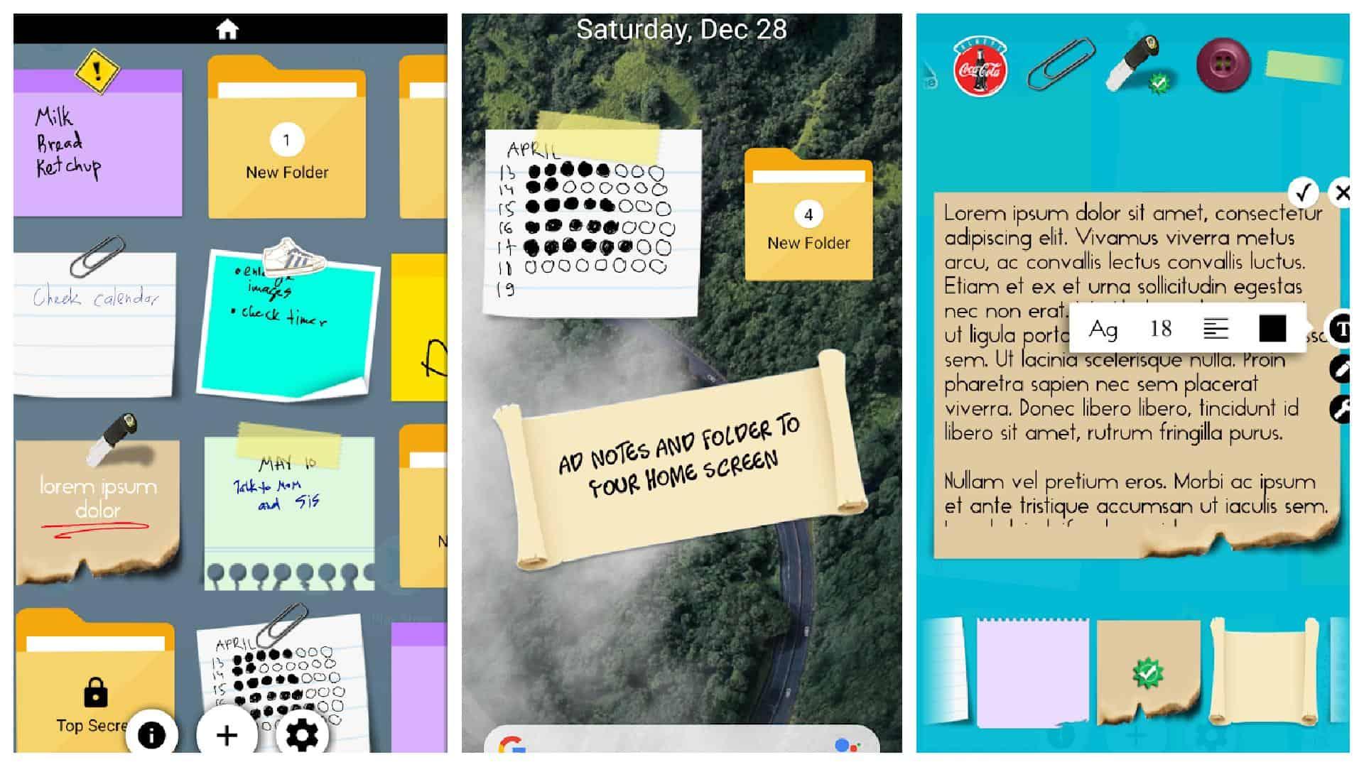 Sticky Notes app grid 1