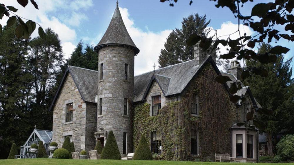 Tigh an Tuir estate in Perthshire Highlands, Scotland.