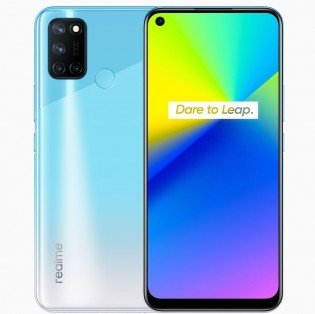 Realme 7i in Polar Blue color