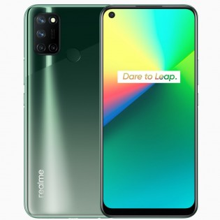 Realme 7i in Aurora Green color