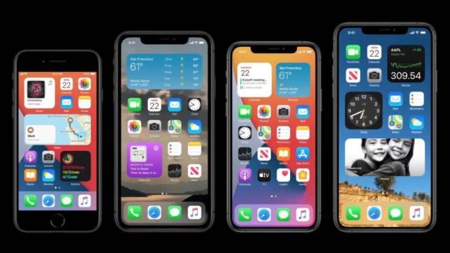 iOS 14 on apple iphones