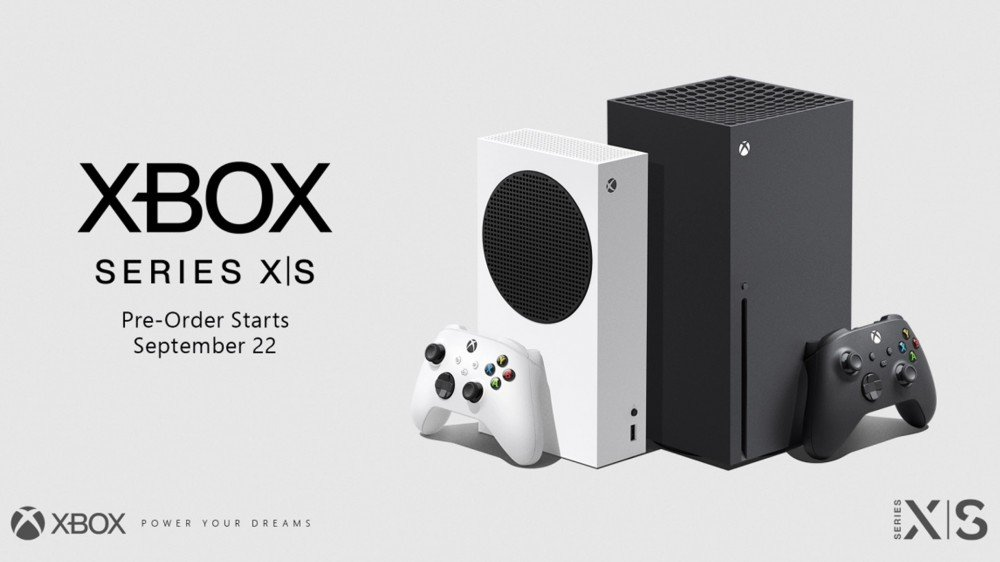 A banner for Xbox Series X and Series S preorders.