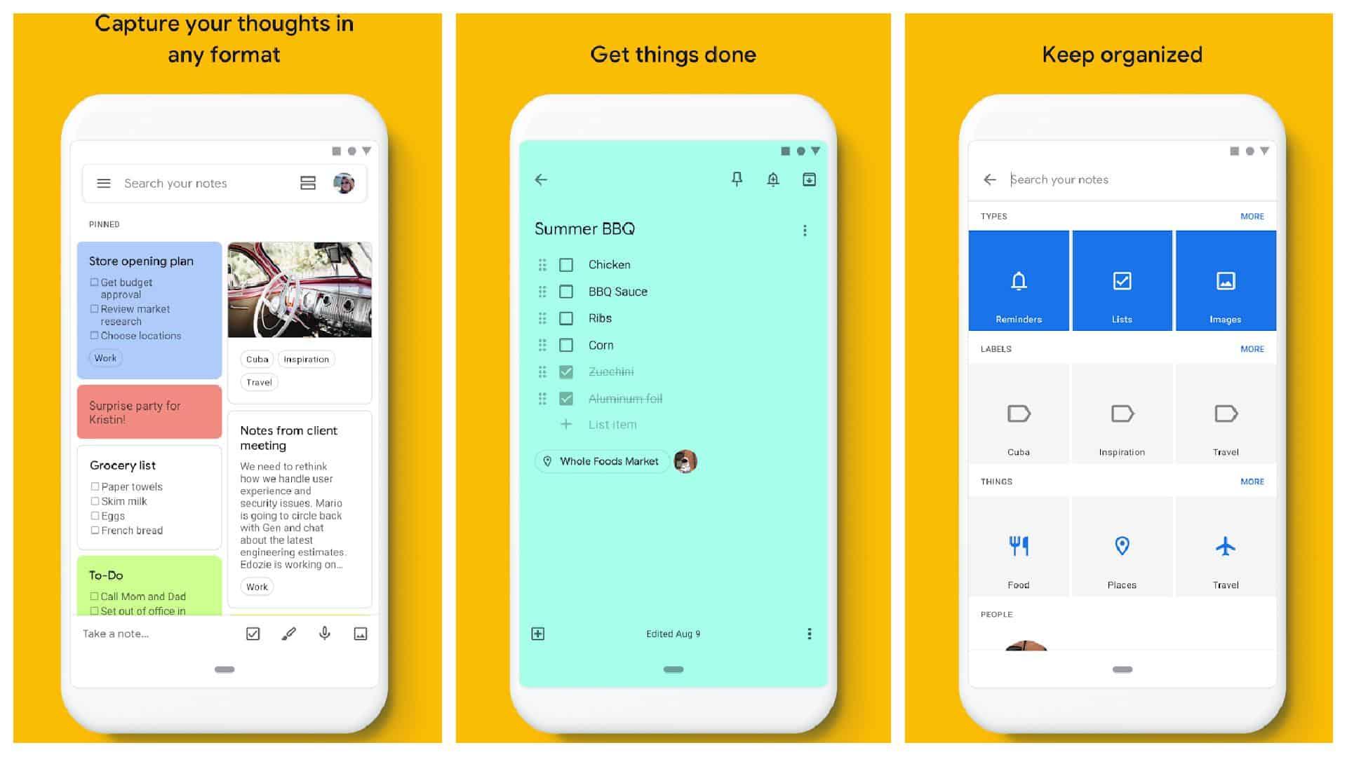 Google Keep app grid 1