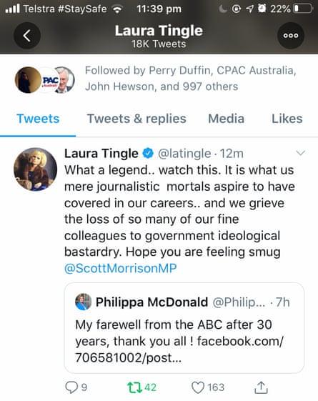 Tingle's tweet