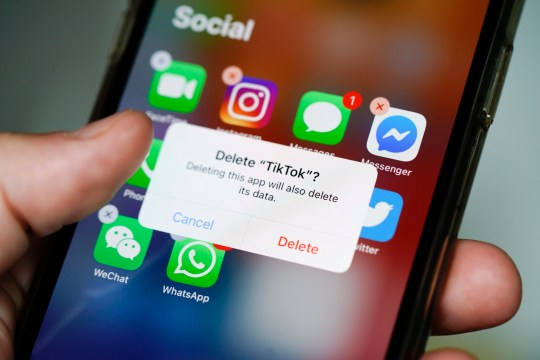 SIPA USA via PA Images The TikTok application is seen on an iPhone 11 Pro max in this photo illustration in Warsaw, Poland on September 29, 2020. The TikTok app will be banned from US app stores from Sunday unless president Donald Trump approves a last-minute deal between US tech firm Oracle and TikTok owner ByteDance. US authorities say the Chinese video sharing app threaten national security and could pass on user data to China. (Photo by Jaap Arriens / Sipa USA)