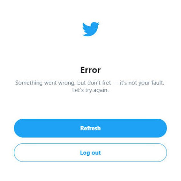 Although the website can still be accessed, many users are seeing 'Error. Something went wrong, but don't fret – it's not your fault,' but not all of the features are working properly