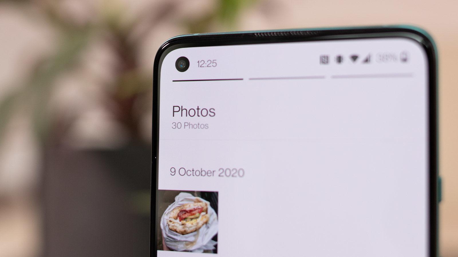 OnePlus 8T selfie camera