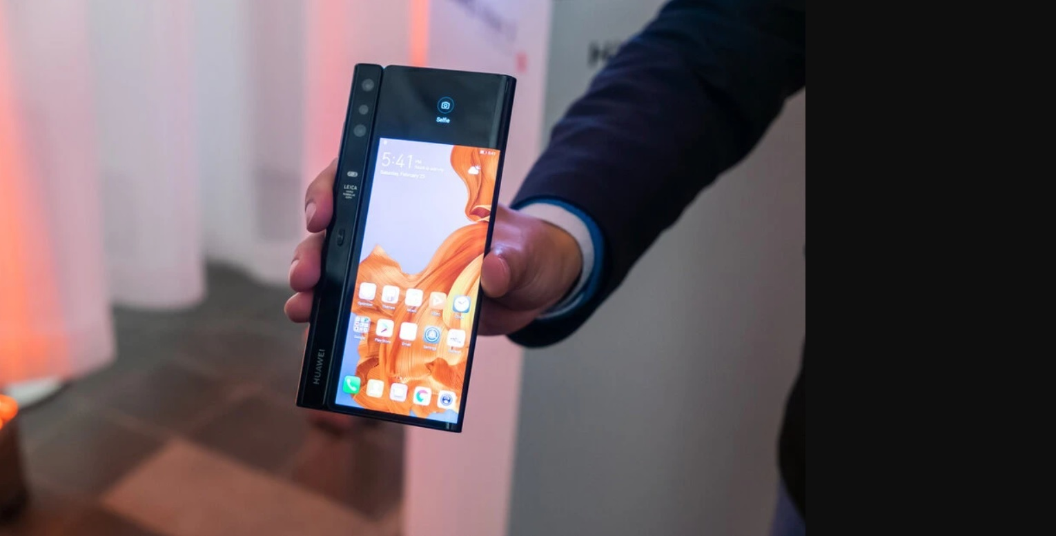 The original Huawei Mate X, showing its signature camera module - Will Xiaomi's foldable smartphone look like a mix between Galaxy Fold and Huawei Mate X?