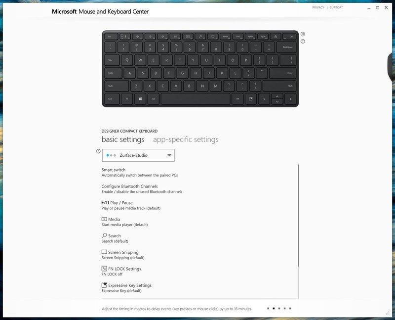 Keyboard Center Designer Compact