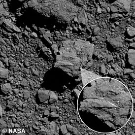 Bennu's boulders were found to contain a bright vein of carbonate