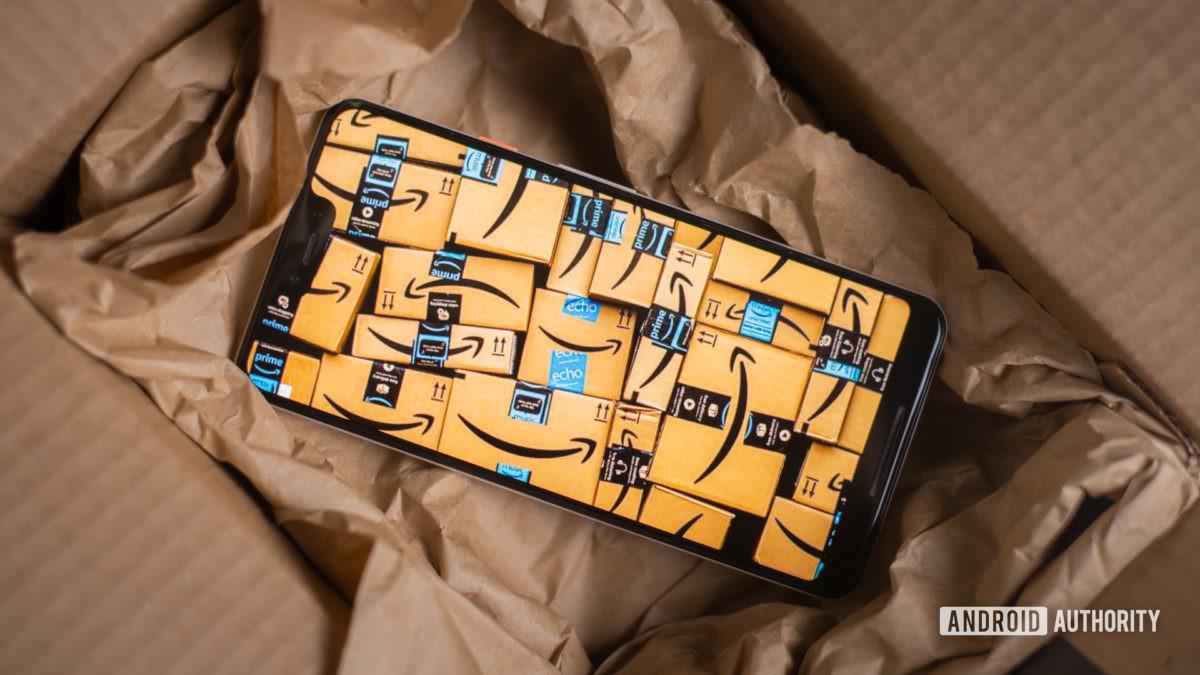Amazon Prime boxes with smartphone 2