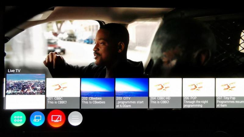 Panasonic HZ1000 My Home Screen Freeview Play