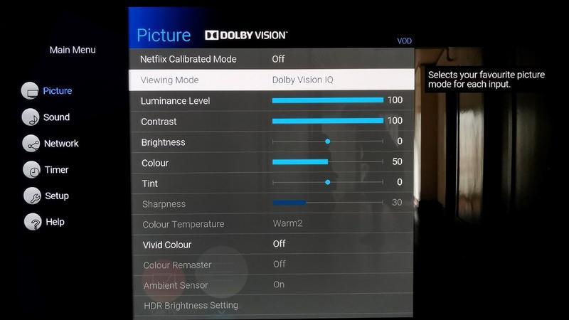Panasonic HZ1000 Dolby Vision IQ