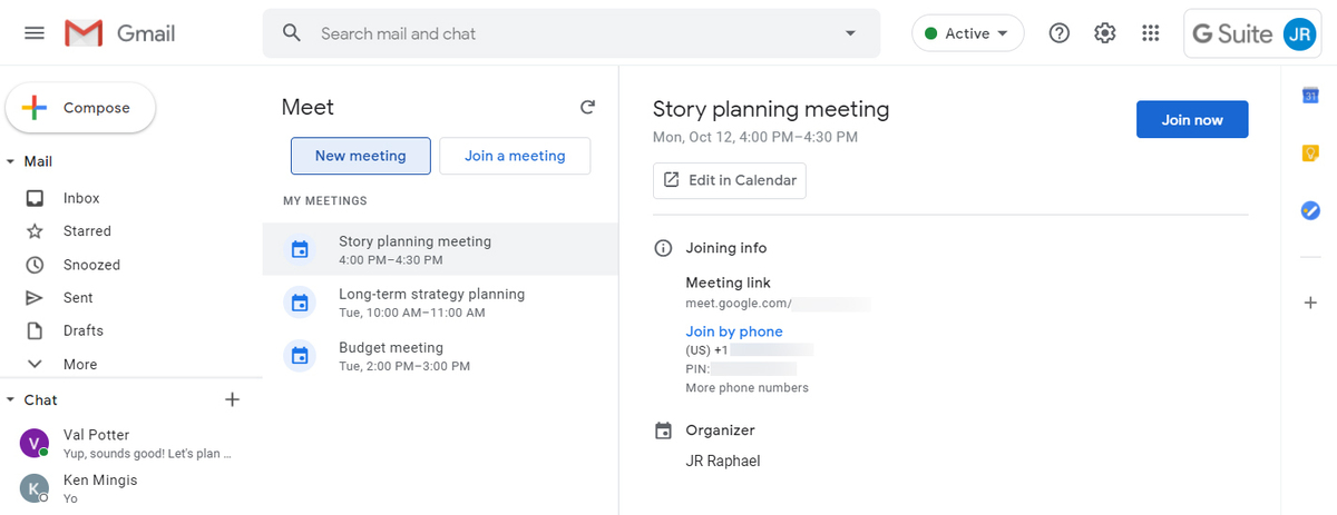 17 gmail collaboration my meetings
