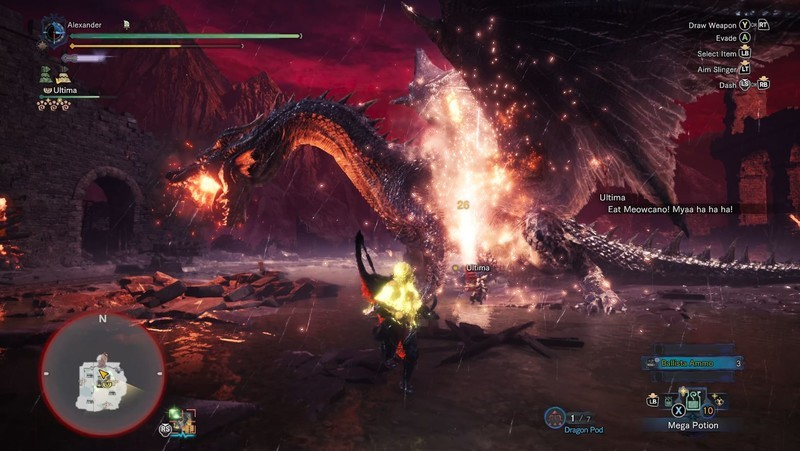 Monster Hunter World Fatalis Attack
