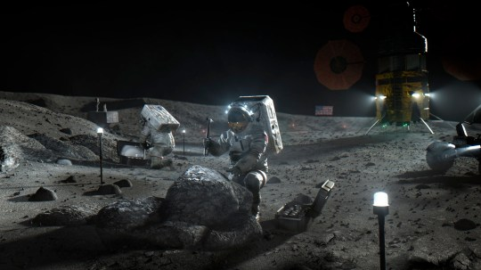 Nasa has announced that three companies will develop, build and fly lunar landers, with the goal of returning astronauts to the moon by 2024. (Credits: AP)
