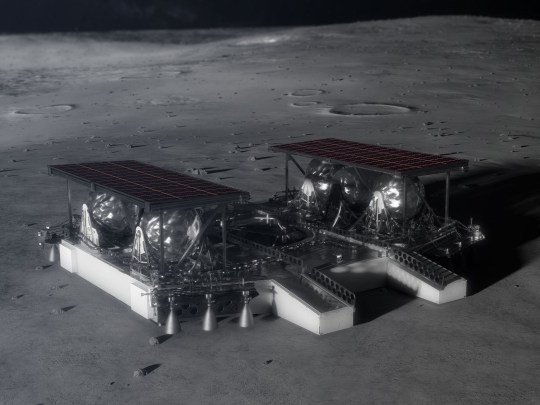 A photo issued by Nasa of the 'pallet lander concept' as the American space agency races to put astronauts back on the moon