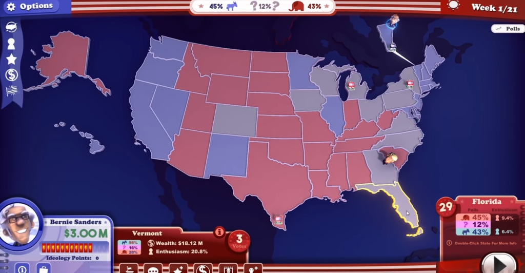 The Political Machine 2020 shows you which states you need to win to be president.