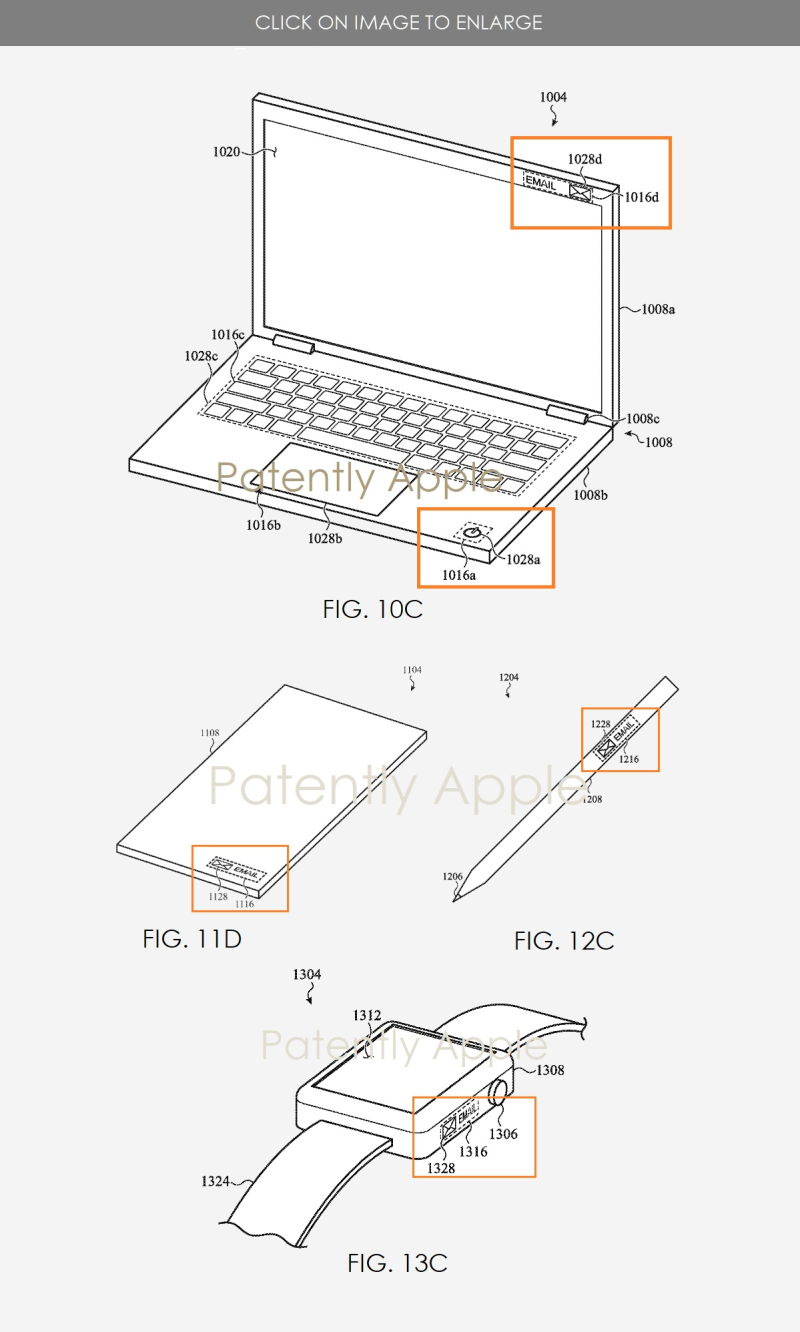 2 B Apple micro-notifications patent figures
