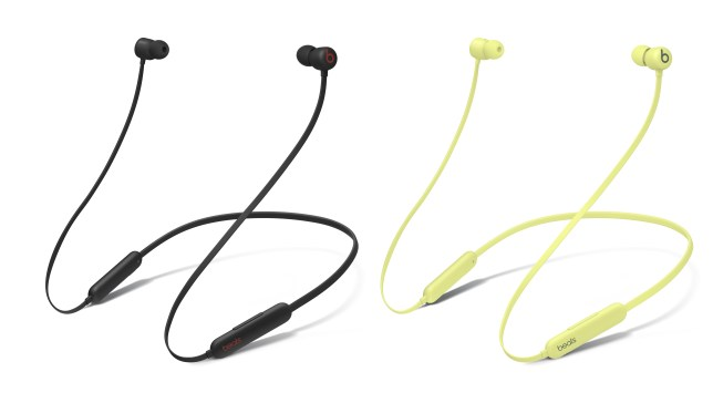 The Beats Flex headphones in black and yellow