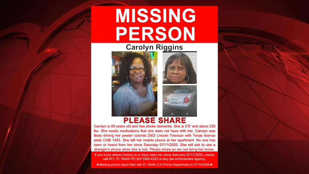Carolyn Riggins Missing Poster