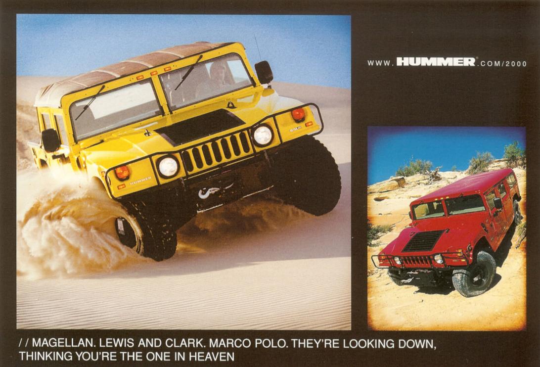 Vintage Hummer H1 brochure