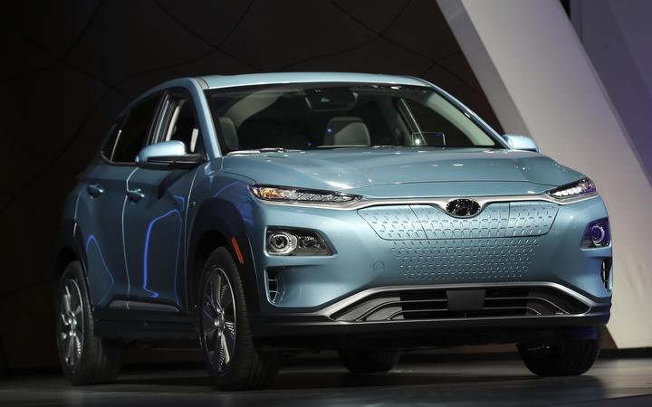 The 2019 Hyundai Kona Electric Vehicle.