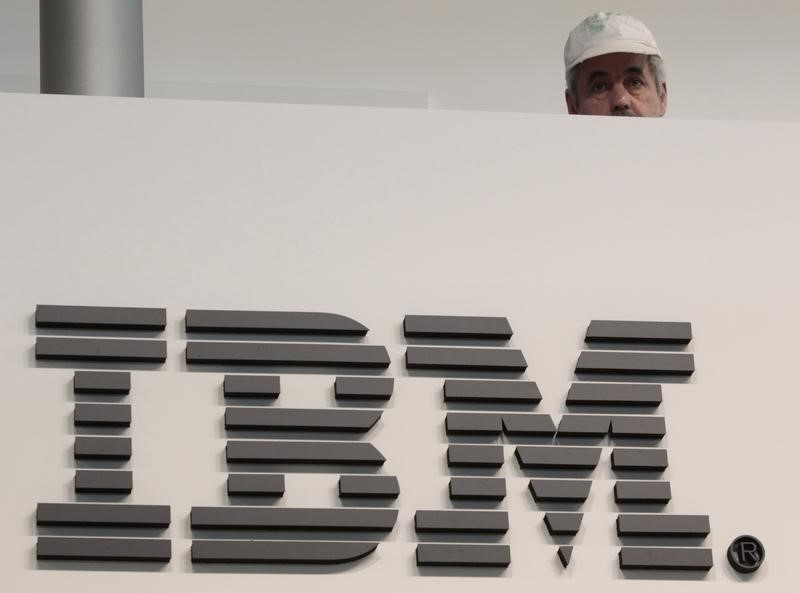 IBM said it took in US$17.6 billion (RM72.9 billion) during the three months that ended on September 30, compared to US$18 billion in the same period a year earlier. — Reuters pic