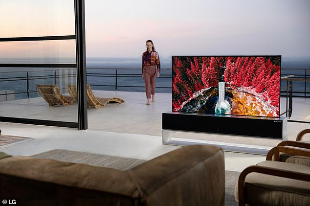 LG announced the launch of the world's first rollable TV, the LG Signature OLED R for$87,000