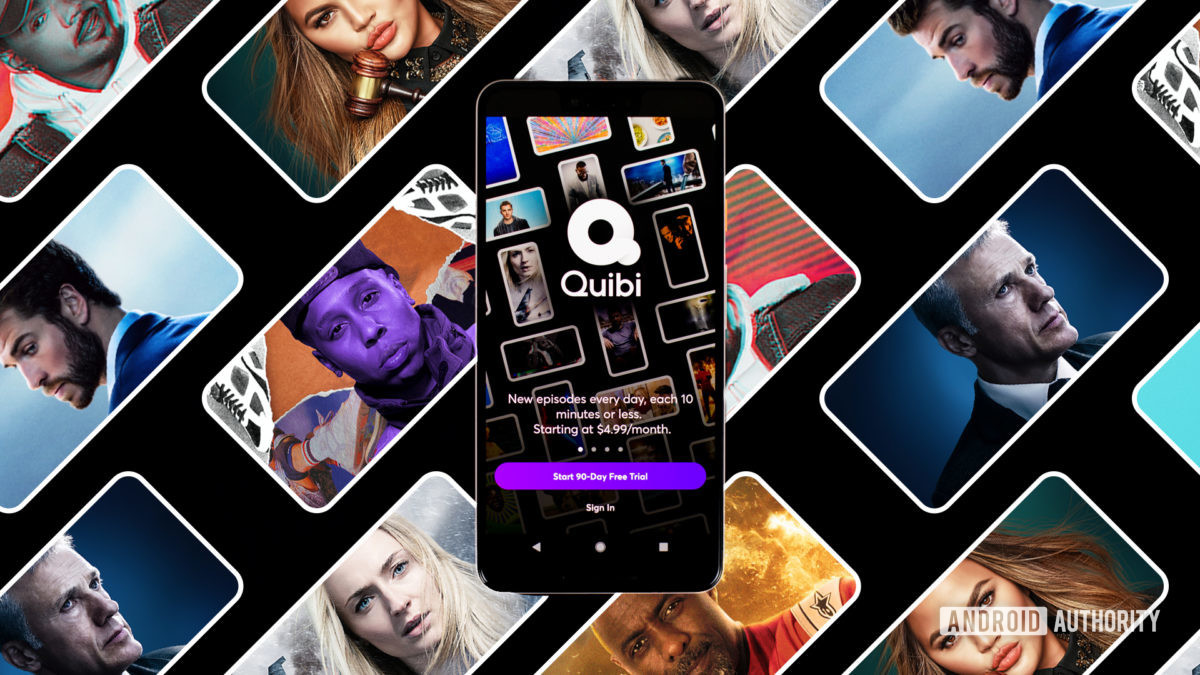 Quibi streaming app on Android smartphone stock photo 1