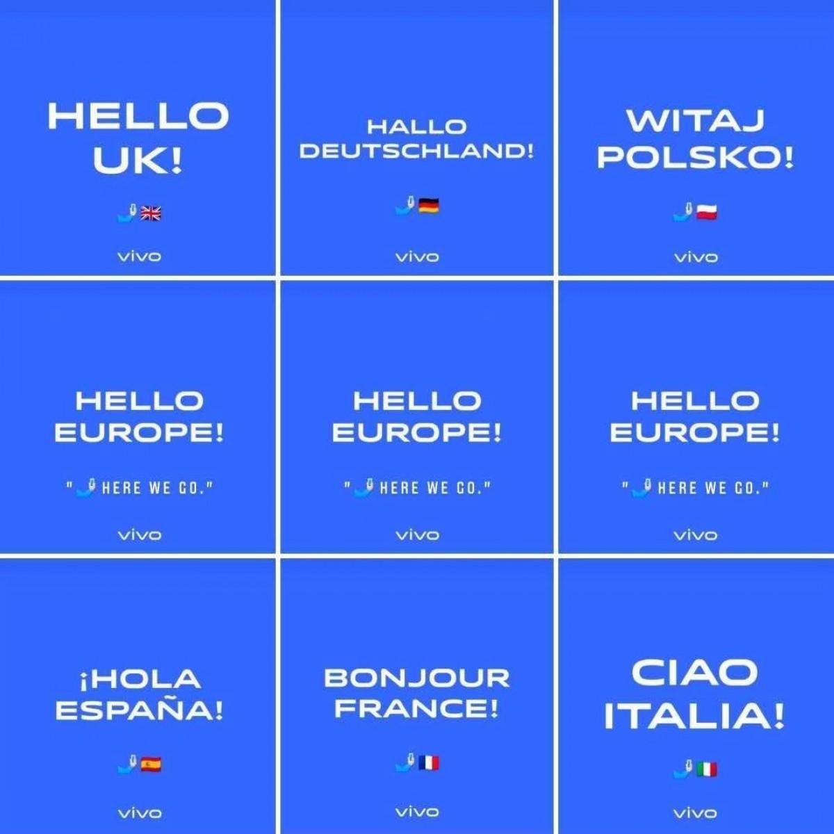 vivo enters Europe, announces four phones across six countries