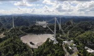 The Arecibo Observatory space telescope.