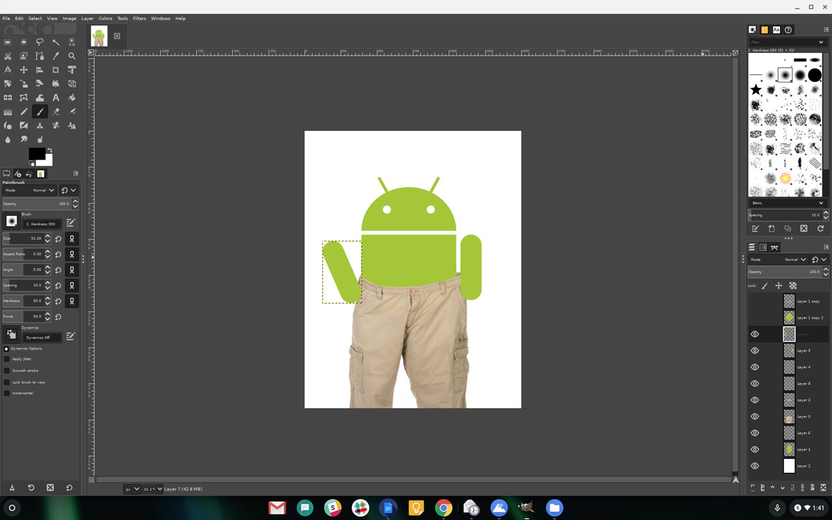 05 linux apps chromebook gimp