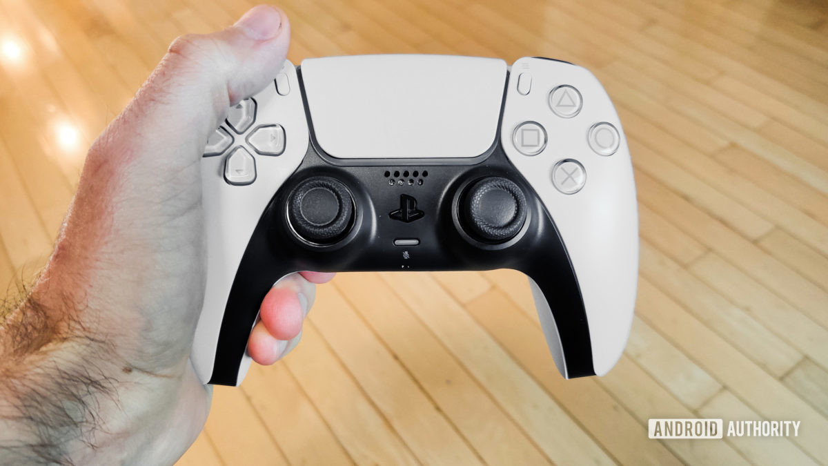 PlayStation 5 DualSense Controller in Left Hand