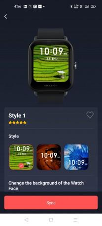 You can create a custom watchface for Bip U using the Zepp app