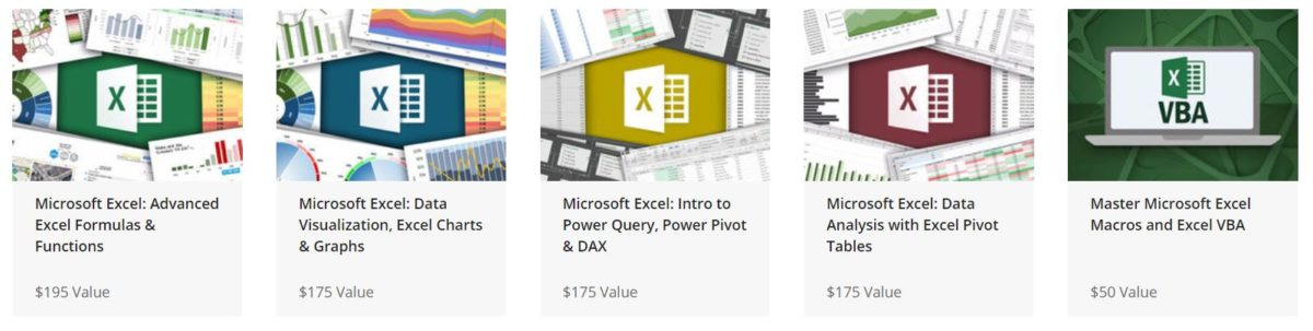 The Ultimate Microsoft Excel Certification Training Bundle online courses