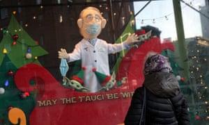 ''May The Fauci Be With You'' Christmas Window, New York, USA, New York City, on 29 Nov 2020.