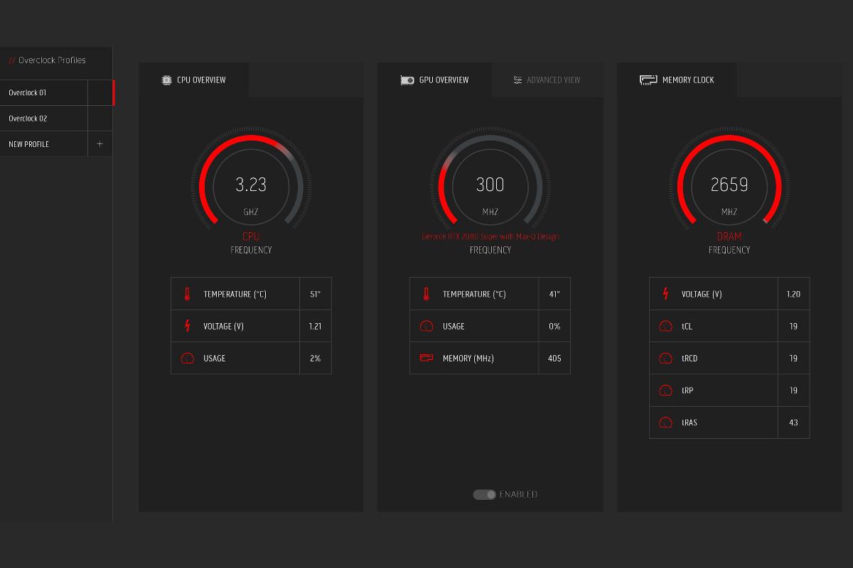 Alienware m15 R3 command centre