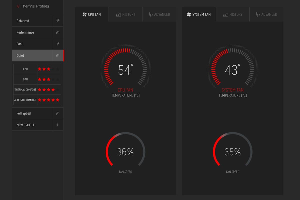 Alienware m15 R3 thermal management