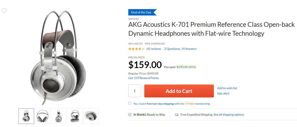 AKG K 701 headphones deal Adorama