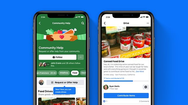 Available in the US through Facebook's Community Help hub, 'Drives' allows users to start collecting clothing, food and other necessities for those in need