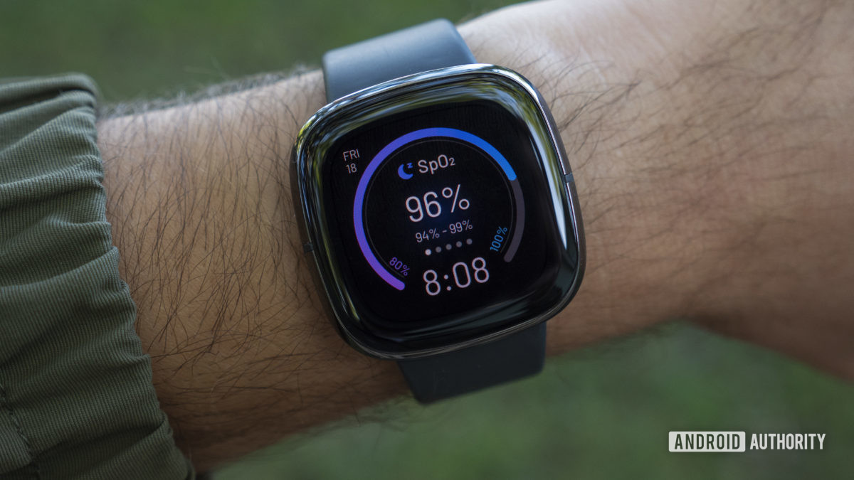 fitbit sense review design display watch face on wrist1