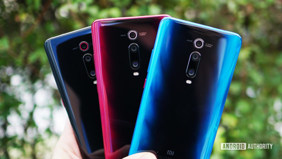 Xiaomi Mi 9T Pro red blue black color comparison
