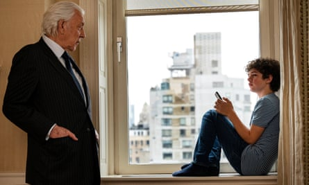 Donald Sutherland, left, as Franklin, and Noah Jupe as his grandson Henry.
