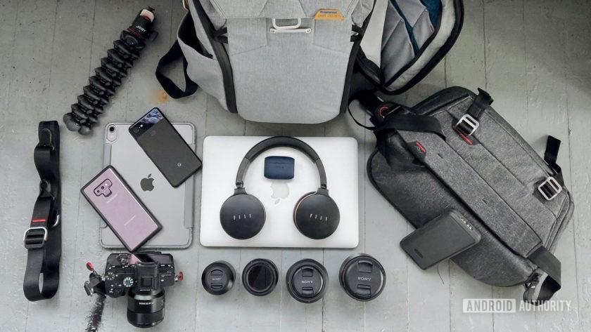Google IO 2019 Whats In Erics Bag gear close up
