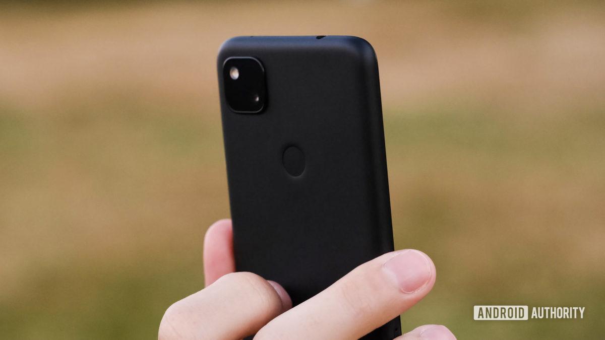 Google Pixel 4a camera and fingerprint reader