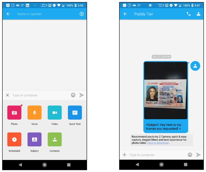 Go SMS Pro interface