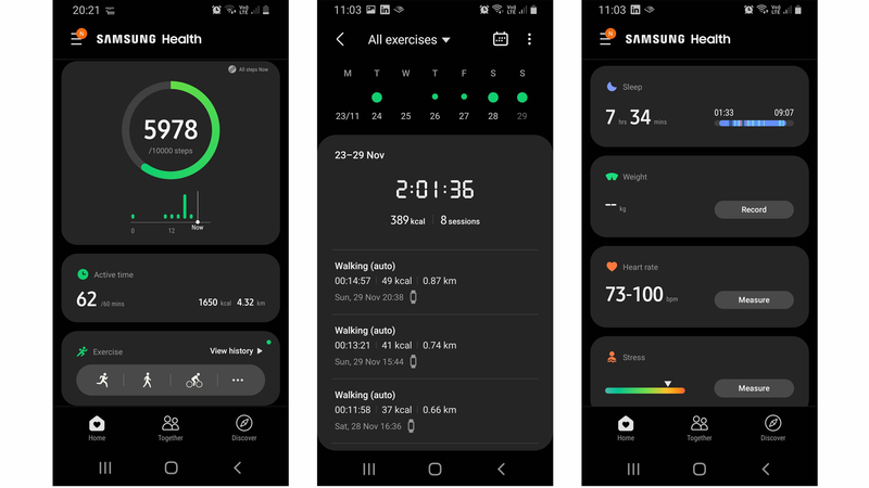 Samsung Galaxy Fit 2 review: Exercise tracking