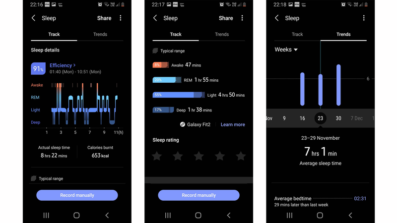 Samsung Galaxy Fit 2 review: Sleep tracking