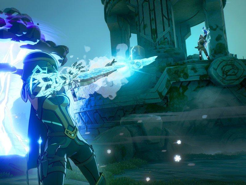 Spellbreak Lightning And Ice Bogmore Battle